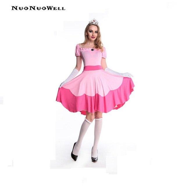 Nuonuowell princesa traje de dormir belleza vestido rosa vestido ...