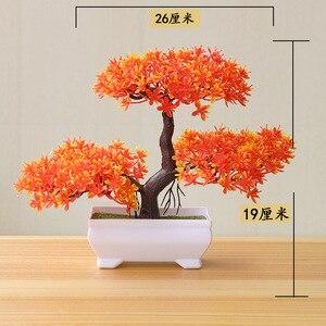 Image 4 - نباتات اصطناعية جديدة بونساي أصيص شجرة صغير نباتات زهور مزيفة بوعاء زينة للمنزل ديكور حدائق الفنادق