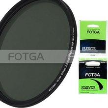 FOTGA Тонкий Fader переменной Регулируемая Переменная ND фильтр ND2 к ND400 43-86 мм 52 58 67 72 77 мм