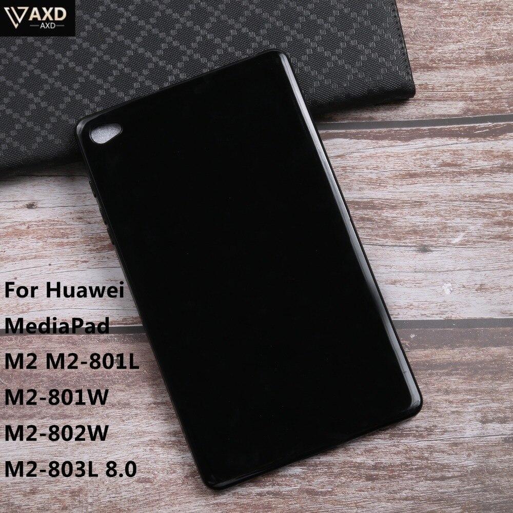 TPU Macio Silicone Caso Tablet Huawei MediaPad Para M2 M2-801L M2-801W M2-802 M2-803L 8.0 Capa Tablet Protetor de tela Casos