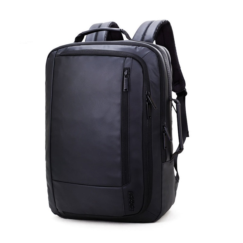 Men s Black Backpack Large Oxford Fabric Backpack Female Waterproof Business Laptop Backpack School Bag for
