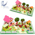 Happy Farm 3D Wooden Puzzles Kids Toys Educational Toys Children Wooden Puzzle Toy Games Containers Zoo Family Montessori Toys