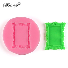FILBAKE 1 Piece Of Silicone  Flower Ring Frame Mirror Fondant Cake Decorating Tools Soap Mold Mould
