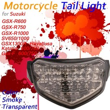 LED Tail Light For Suzuki GSX 1300R 1000R 750R 650R SV1000 SV650 Integrated Motorcycle Turn Signal Stop Warning Lamp