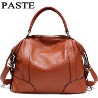 2017 Europe and America Women Genuine Leather Handbag Ladies handbags messenger bag Female Messenger Bags 2 Sizes