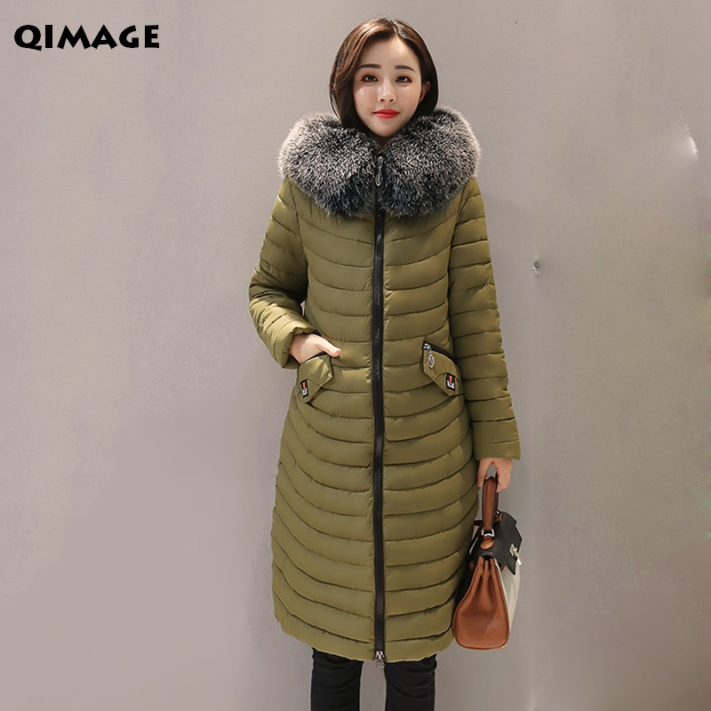 Large Fur Collar Women Coats 2017 New Winter Longt Parkas Cotton Padded Coat Silm Female Outwear Jacket Winter Parkas Plus Size aishgwbsj winter women jacket 2017 new hooded female cotton coats padded fur collar parkas plus size overcoats pl155