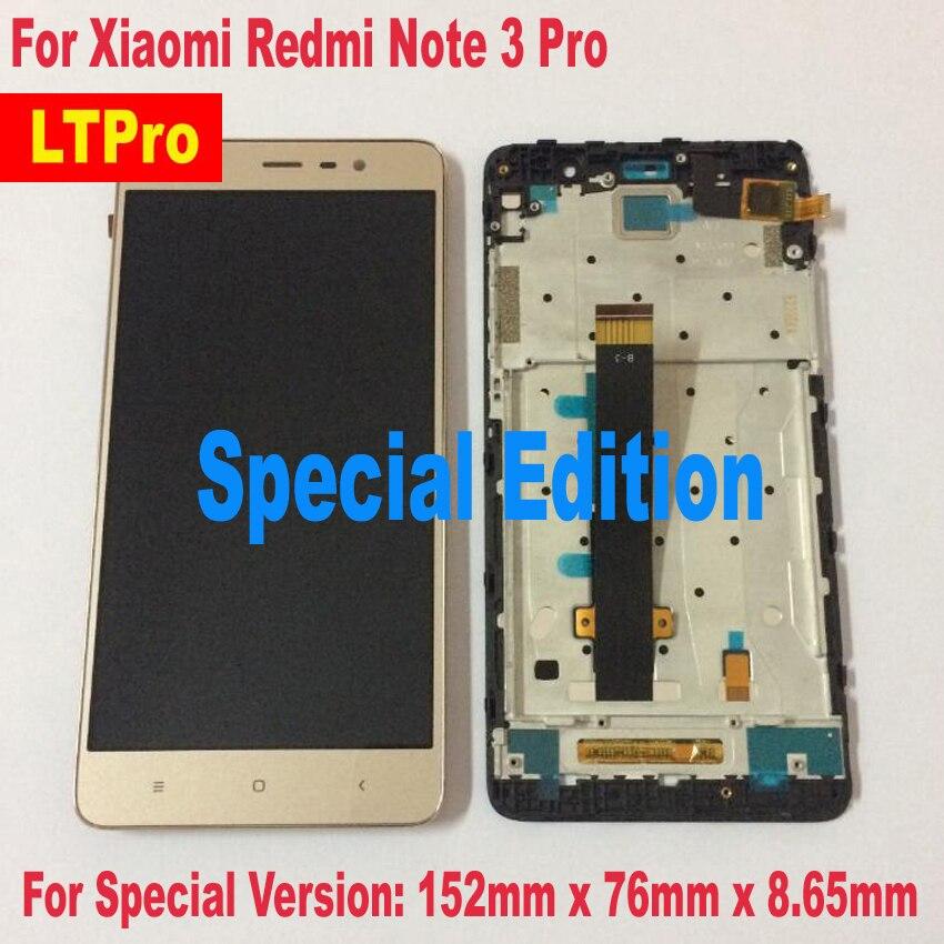 LTPro 152mm!! NOUVEAU LCD Affichage à L'écran Tactile Digitizer Assemblée + cadre Pour Xiaomi Redmi Note 3 Pro Version Spéciale Édition SE pièces