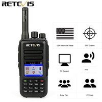Retevis RT51 PoC Handset Radio Network Two Way Radio 4G LTE FDD,3G WCDMA GPS with SIM Card Programming Cable