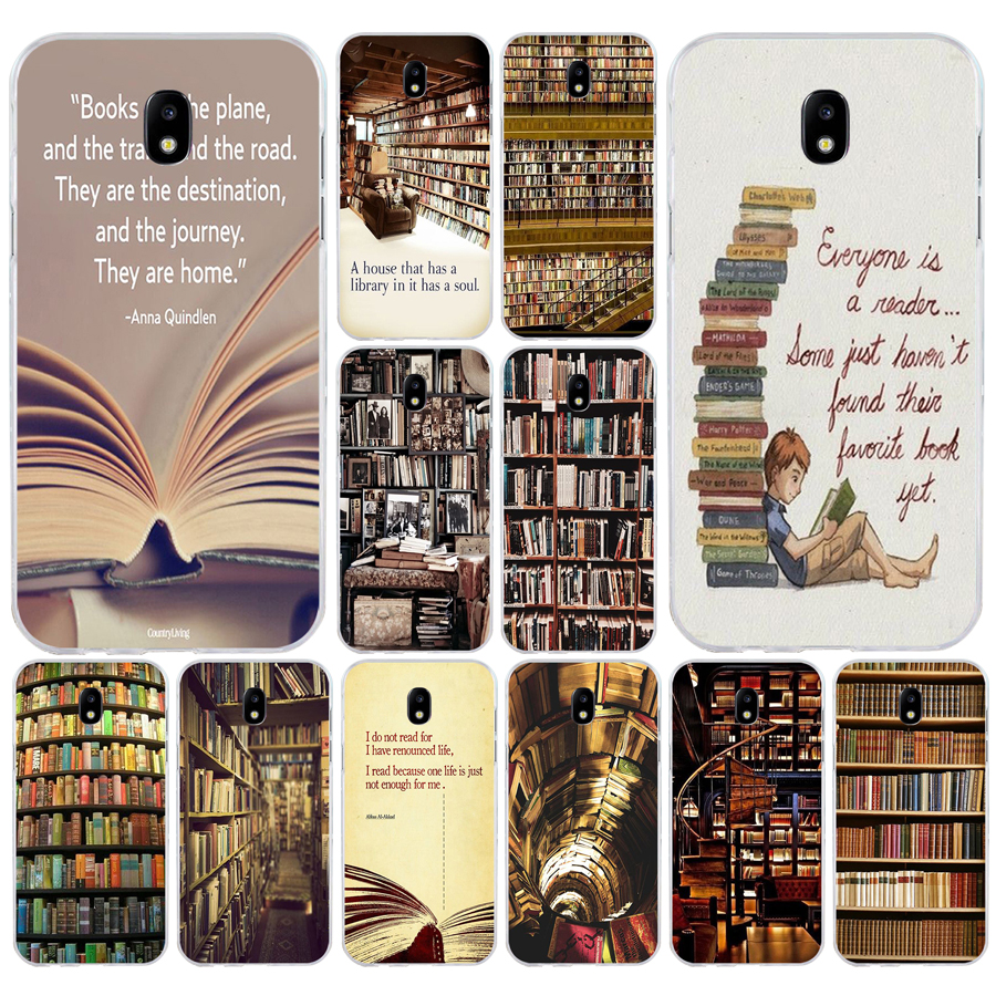 139 Retro Boek Plank Boekenplank Bibliotheek Zachte Siliconen Tpu Cover Phone Case Voor Samsung J3 J5 J7 2016 2017 A3 2016 A5 2017 A6 2018