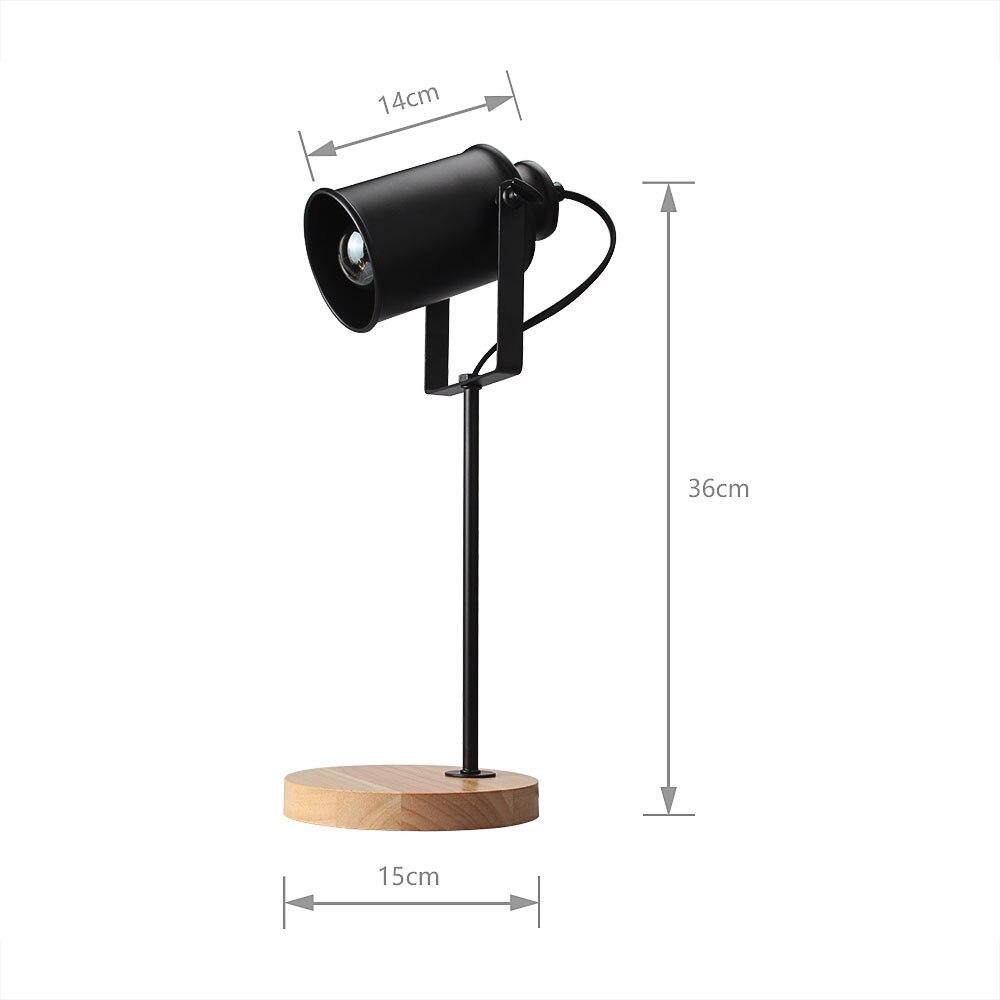 Image 4 - American Table Lamp ASCELINA Vintage Loft Wooden Led Desk Lamp Adjustable Reading Light Office Lamp Home Lighting Decor Stores-in Desk Lamps from Lights & Lighting