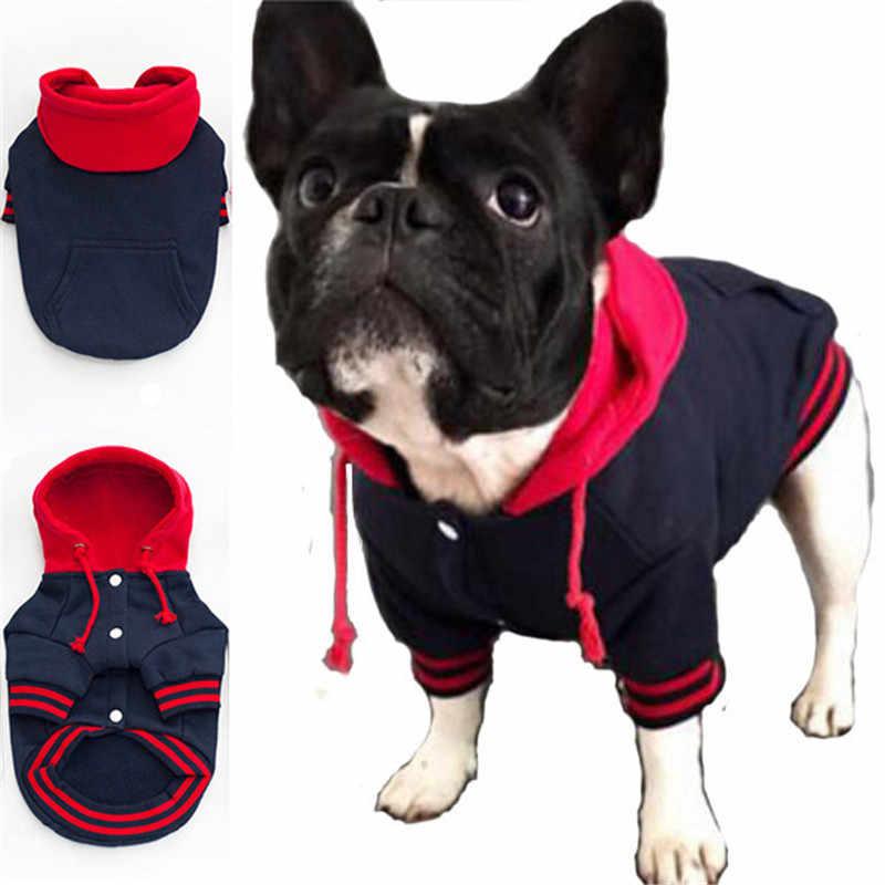 Vêtements bouledogue français pour chiens   Vêtements pour animaux de compagnie, pulls à capuche avec poche, manteau pour chien, vêtements de sport chauds en coton pour animaux de compagnie