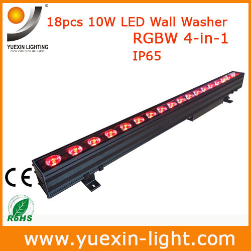 18X10W DMX Wall Washer Light RGBW 4 IN 1 LED Wash Line Bar Outdoor Mordern Mount Outside DMX Control Garden Wall Washing Lamp in Stage Lighting Effect from Lights Lighting