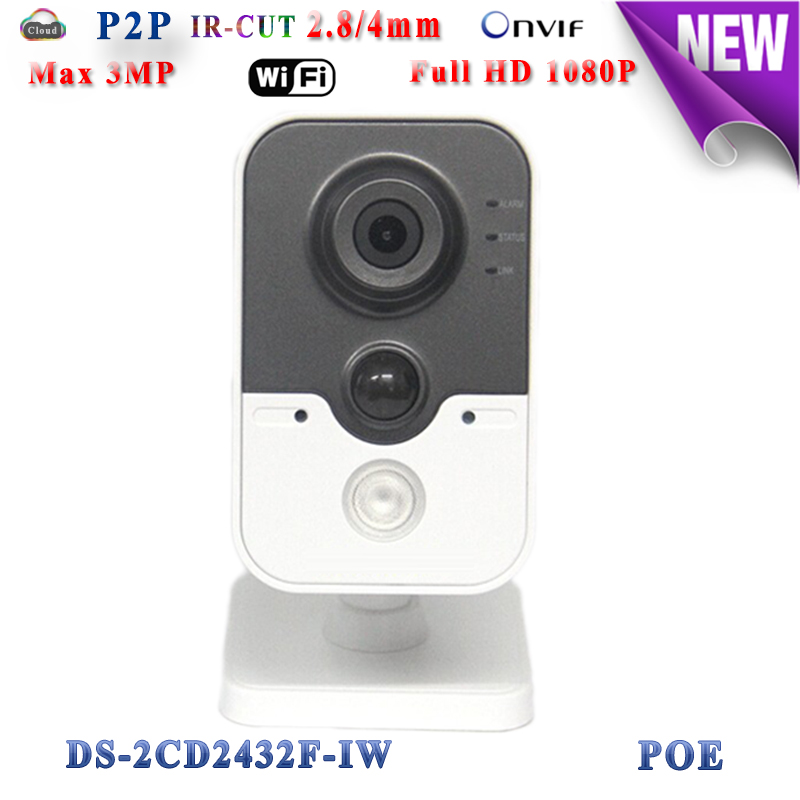 ds-2cd2432f-iw hikvision ip camera poe 3mp ip camera wifi 1080P P2P security Video Surveilance camera microphone TF Card Slot cd диск fleetwood mac rumours 2 cd
