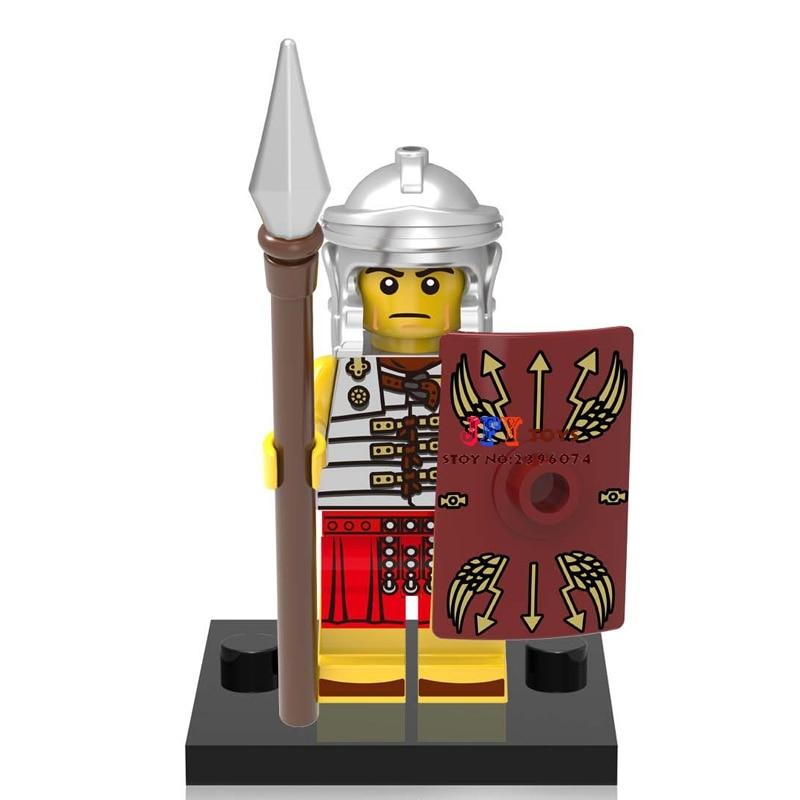 Single Sale star wars super hero Medieval Knights Rome Fighters building blocks model bricks toys for children brinquedos menino