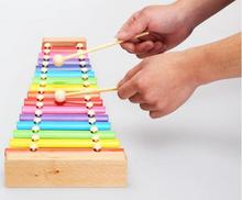 Free shipping wooden beechwood 15 xylophone toy, Orff percussion Classic children's educational toys, Music xylophone