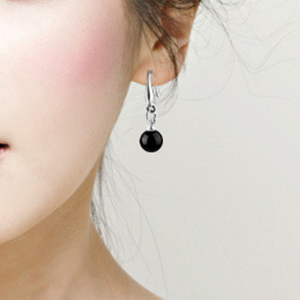Trendy Charming Jewelry Natural Ear Drop Crystal Black Red Simulated Pearl Dangle Earring Dia 8mm 0721 In Earrings From Accessories On