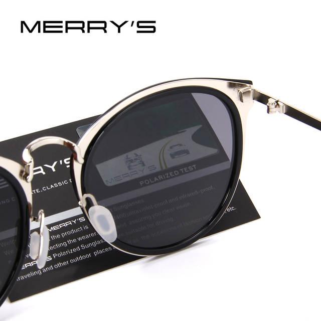 f188997fd2 MERRY S Women Brand Designer Cat Eye Sunglasses Fashion Polarized Sun  Glasses Metal Temple 100% UV