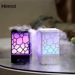 Water Cube Aromatherapy Oil Diffuser Mist Maker 7Color Changing LED Light Ultrasonic Cool Mist Aroma Humidifier for Home SPA