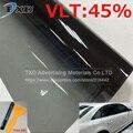 Дешевый VLT 45% 50x300 СМ/Lot Черный Автомобиль Пленка для Тонирования стекол здания окно солнечный оттенок фольги солнечная Сторона окна Тонировочной пленкой