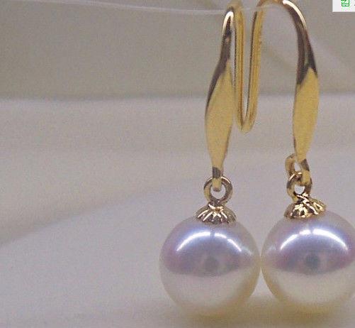 super luster perfect round 10-11mm south sea white pearl earring 14ksuper luster perfect round 10-11mm south sea white pearl earring 14k