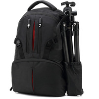 Professional Waterproof Shockproof Digital Product Double Shoulder Backpack Large Capacity Photography Camera Support Bag