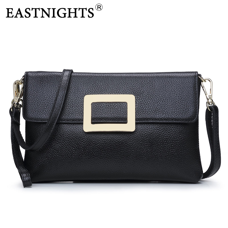 EASTNIGHTS 2017 New Women Clutch Bags Genuine Leather Crocodile Pattern Envelope Shoulder Ladies Small Messenger Handbag TW2817