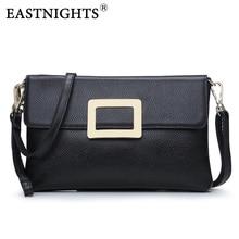 EASTNIGHTS 2017 New Women Clutch Bags Genuine Leather Crocodile Pattern Envelope Shoulder Ladies Small Messenger Handbag TW2817