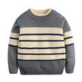 2017 hot sell Children Cotton Long-Sleeve Sweater Autumn and Winter striped Sweater Cute Pattern Boys Sweater