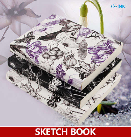 19cmX25.6cm , B5 Vintage Bird Flower Sketch book , White Blank Inside Page Sketchbook optoma x402