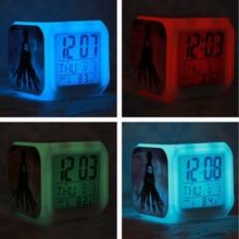 One Piece LED 7 Color Glowing Digital Alarm Clock