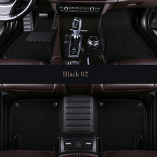 Custom PU car floor mats for Jaguar All Models XF 2008-2017 XE XJL F-PACE F-TYPE Non-slip carpet auto shape accessories