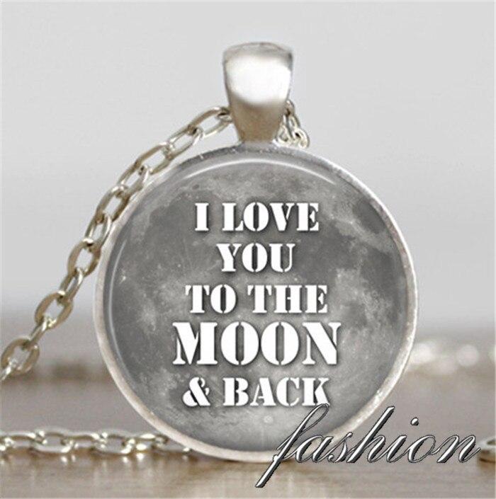 I Love You To The Moon и обратно ожерелье Серый луна подарок на день Святого Валентина Jewelry Луна подвеска Moon ювелирные изделия друг подарков семья иде...