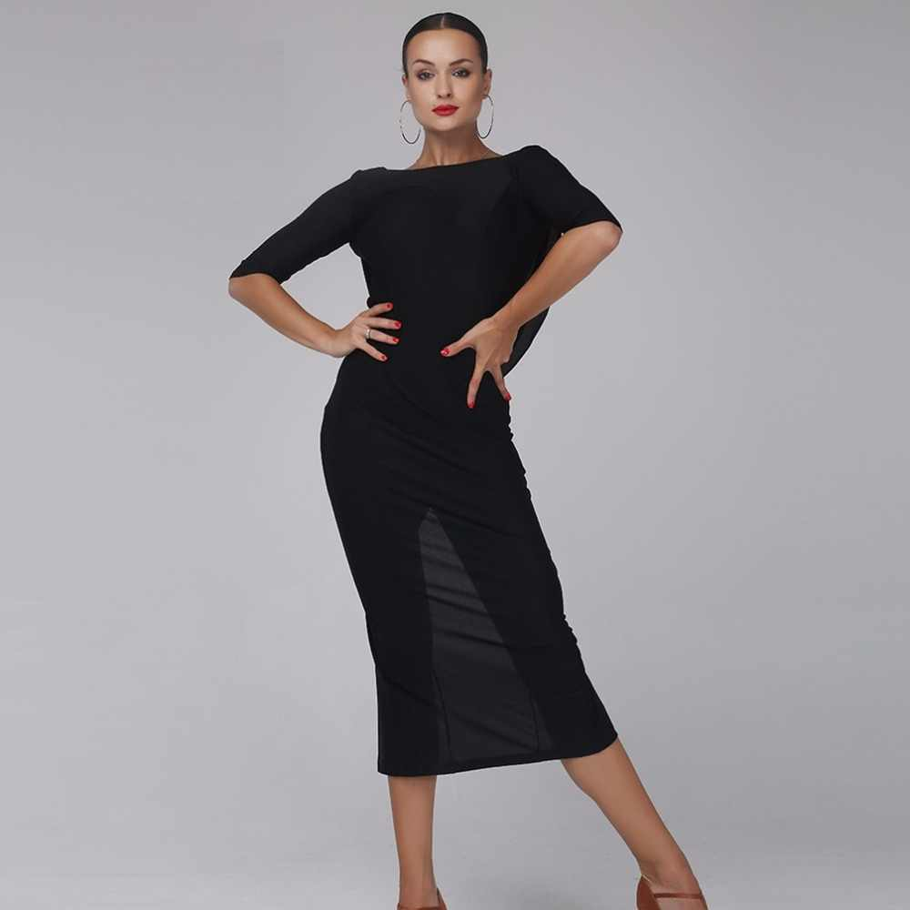Latin dance kleid frauen latin kleid tanzen kleidung Dancewear rumba kleid latina salsa kleid latin dance kostüme schwarz backless