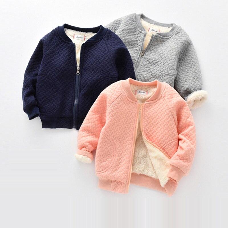 BibiCola Kids Boys Girls Warm Jacket Leisure Jacket Plus Velvet Winter Spring Children's Wear Cotton Shirt Late Autumn Outwear