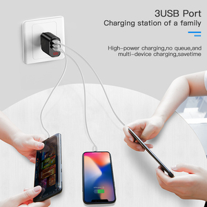 Image 2 - Baseus 3 Port USB Charger for iPhone XR Xs LED Display Phone Charger For Samsung S9 Wall Charger EU Adapter Mobile Phone Charger