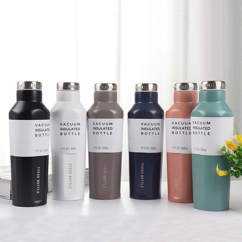 500ML Fashion Brand design Creative stainless steel Vacuum insulation Thermos water bottle Beer Wine cocktail shaker bottle