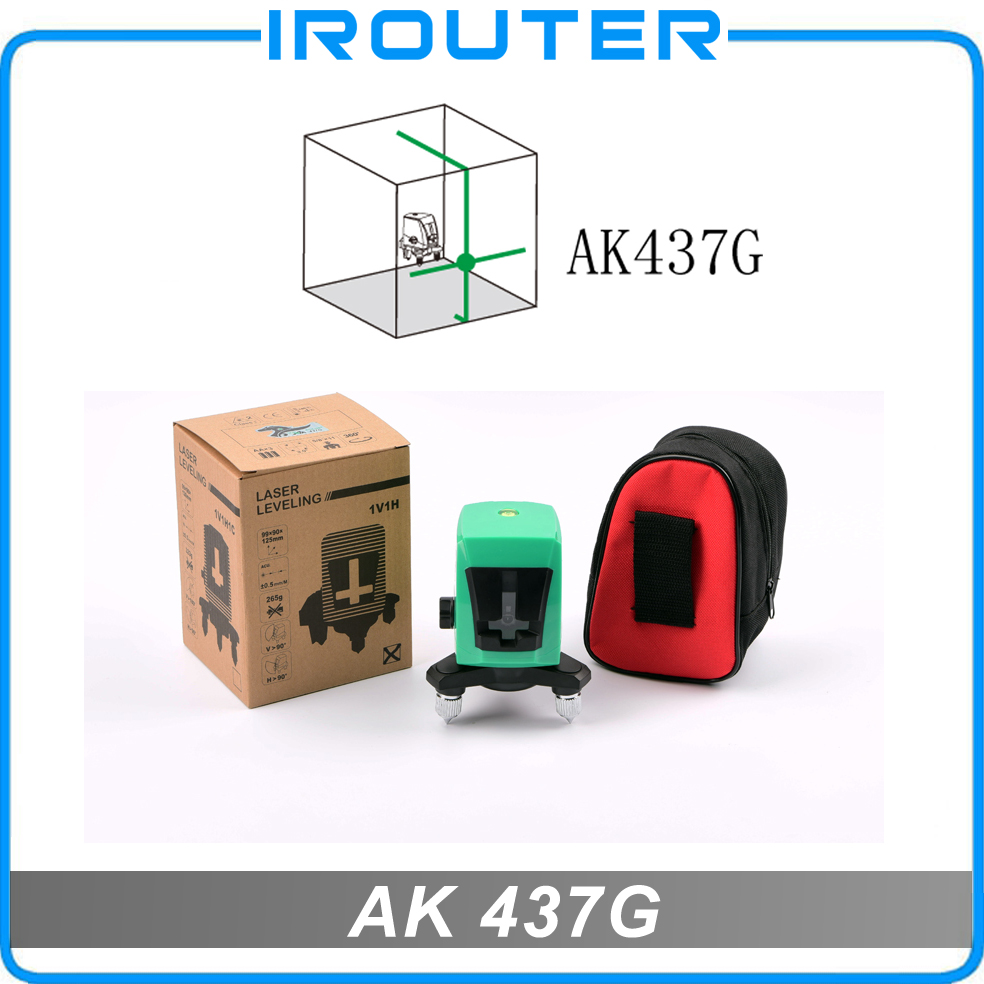 ACULINE AK437G vert 2 lignes niveau laser vert, vert ray niveau