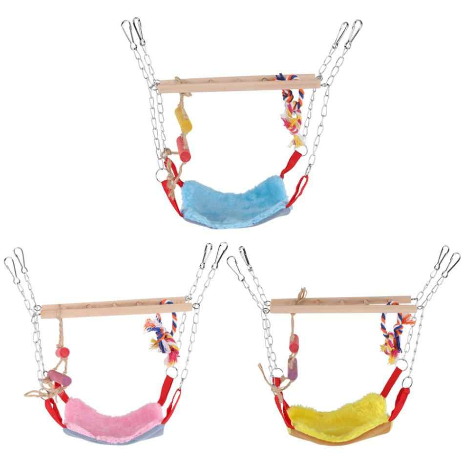 Parrot Toy Bird Climbing Toy Bird Playing Toy Bird Bites Climb Chew Toy Swing Ladder Hammock Chewing Cage Parrot Bird Accessorry