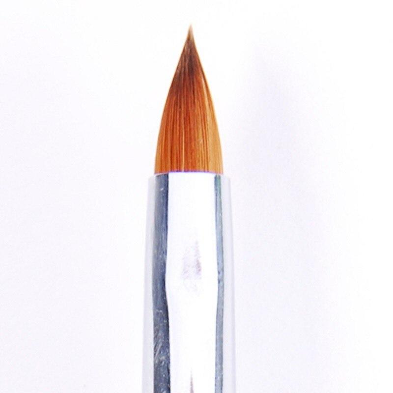 1 шт.#6 высокое качество древесины ногтей кисть колонок акриловых ногтей кисть для Соболь кисть