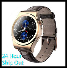 2016 X10 Fullly Rounded Smart Watch Suppors tHeart Rate Monitor Bluetooth 4 0 Real Leather Smartwatch