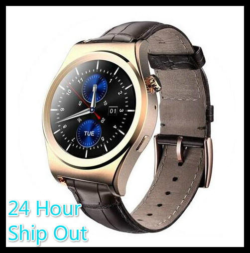 2016 X10 Fullly Rounded Smart Watch Suppors tHeart Rate Monitor Bluetooth 4 0 Real Leather font