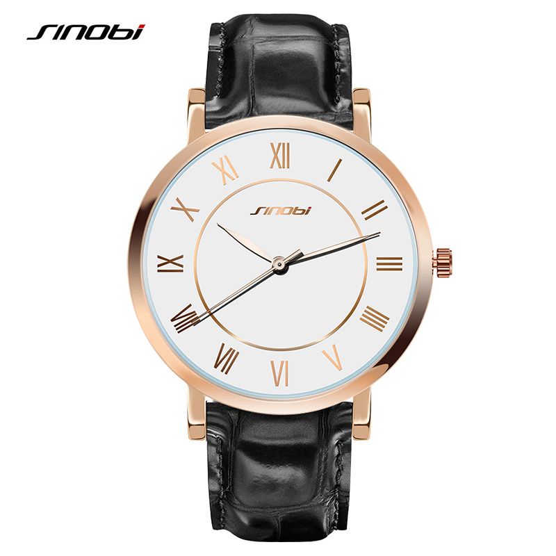 SINOBI Men Watches Top Brand Luxury Waterproof Ultra Thin Date Clock Male Steel Strap Casual Quartz Watch Men Sports Wrist Watch wwoor men watch top brand luxury date ultra thin waterproof quartz wrist watch men silver clock male sports watches reloj hombre