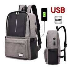 цена на 15 15.4 15.6 Inch with USB Interface Waterproof Nylon Notebook Laptop Backpack Bags Case Backpack for Men Women Student Travel