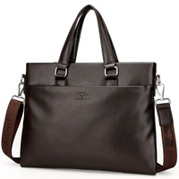 Men S Fashion Pu Leather Briefcase Handbag Brand Men S Bags Black Laptop Bag