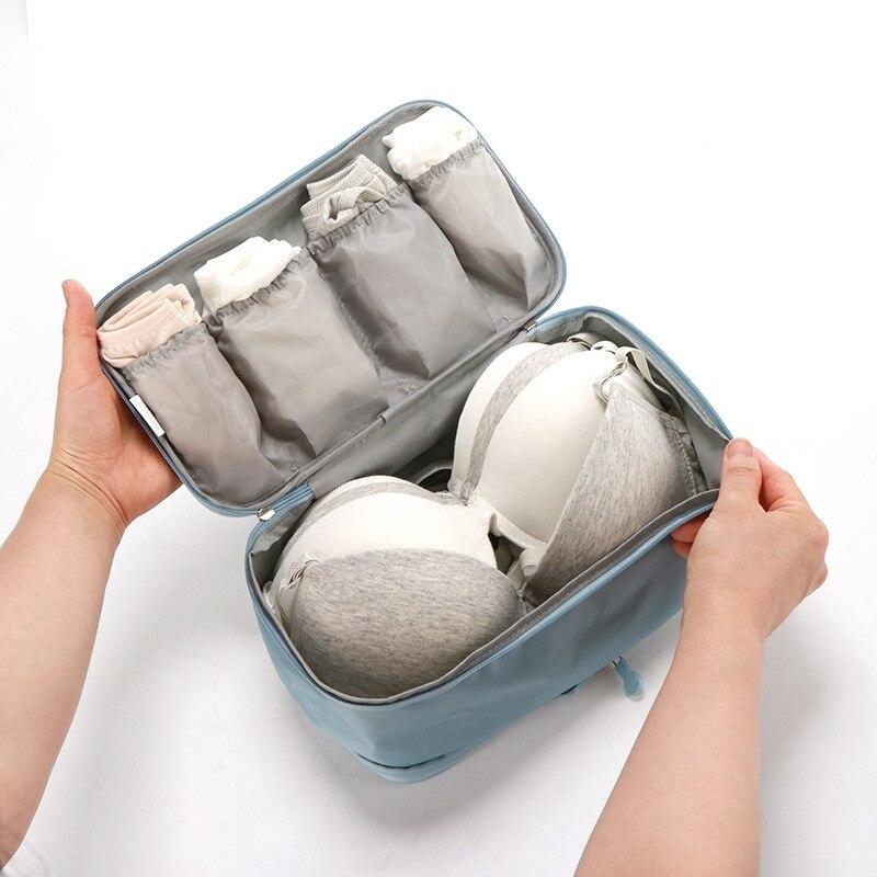 Bolsas de almacenamiento de equipaje de viaje para el sujetador de la maleta de la ropa interior Organizador para la ropa interior Bolsa port/átil Bolsas de almacenamiento de art/ículos de tocador