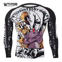 WTUVIVE MMA Fitness Tattoo Monkey Pattern tiger muay thai  Sweater Long Sleeve boxing shorts short muay thai mma Boxing jerseys