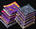 RD Paisley Floral Handkerchief 100% Natural Silk Satin Mens Hanky Fashion Classic Wedding Party Pocket Square