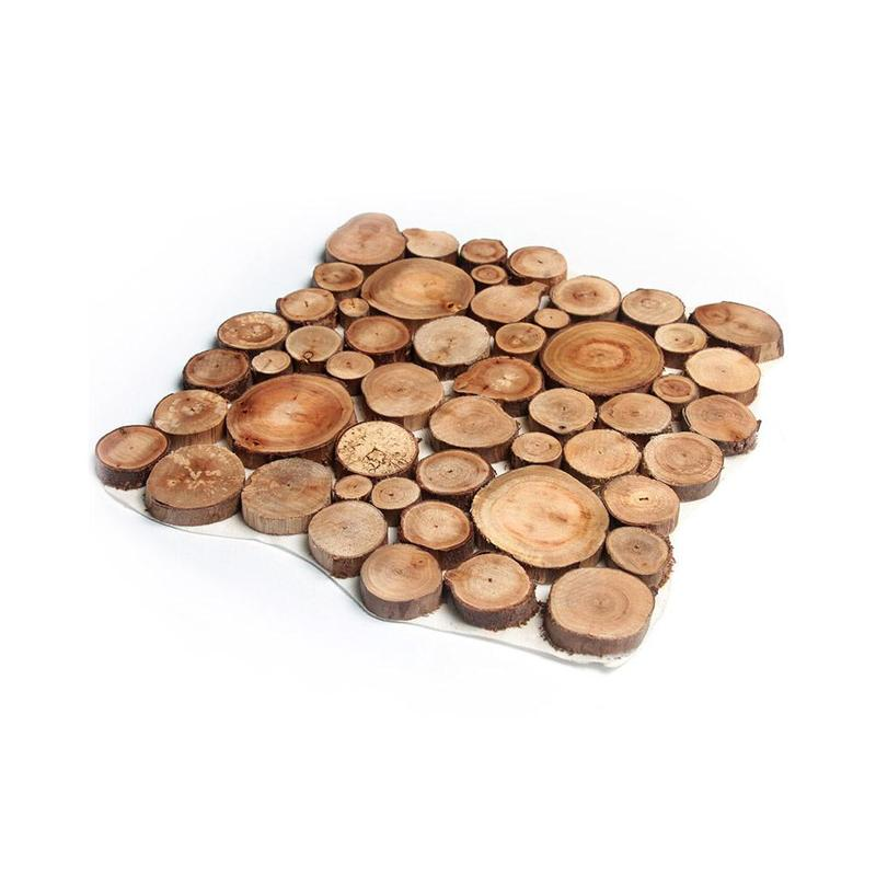 100 Pcs/set Nature Pine Wood Chip Polished Base Handmake Craft Mini Micro Landscaping Home Garden Decoration Diy Accessories 1