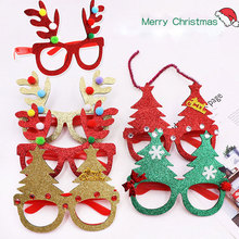 Christmas Glasses Frames Xmas Ornaments  ornaments funny party props Cute glasses frames christmas Decor