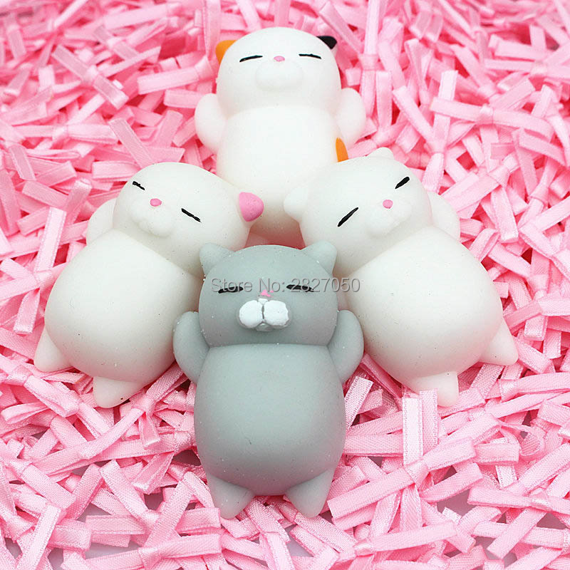 Cute Squeeze Cat Jokes Gift Squishy Cat Healing Vent Ball Action Figure Decoration Toy Soft Robot Doll Relax Stress Relief